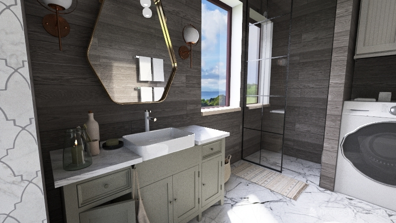 tiny house 563 sq ft Interior Design Render