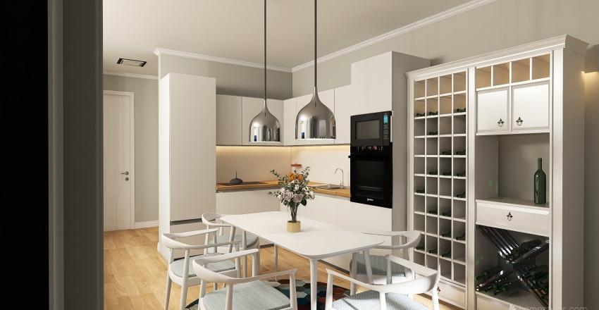 living&dinning room Interior Design Render