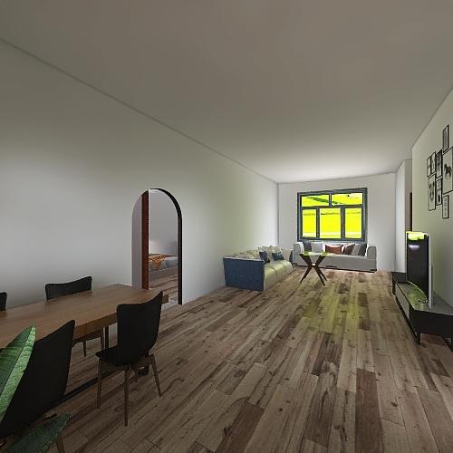 siddi 3 bed Interior Design Render