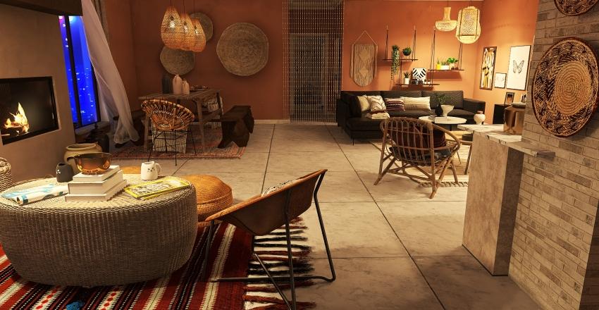 Boho........a bohemian style of life Interior Design Render