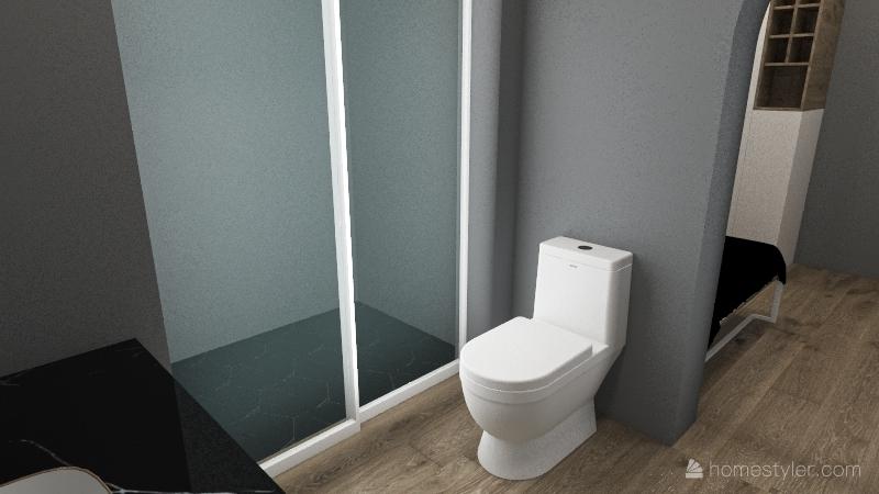 Small LA Apartment Interior Design Render