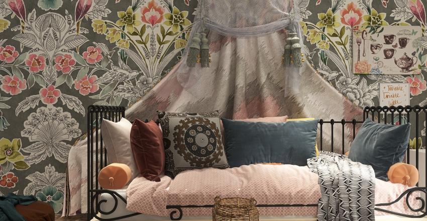 Boho Chic Interior Design Render