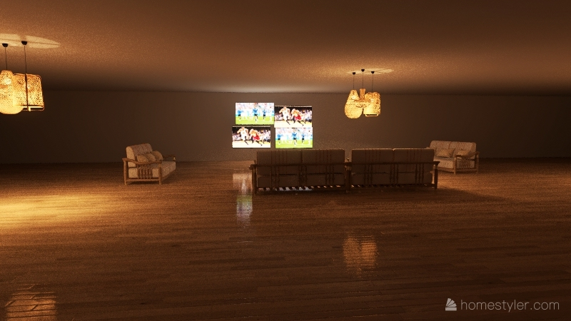 Dream house floor 1 Interior Design Render
