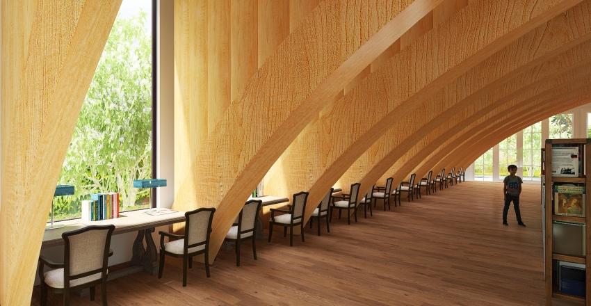 Biblioteca Castelaus Interior Design Render