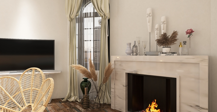 apartment building from the turn of the century Interior Design Render
