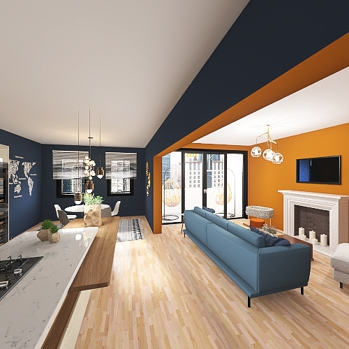 1871 Apartment Interior Design Render