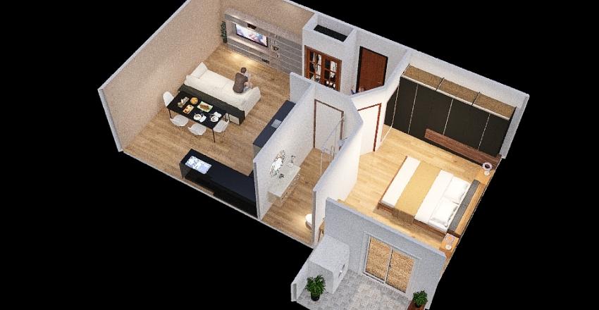 monolocale alessia Interior Design Render