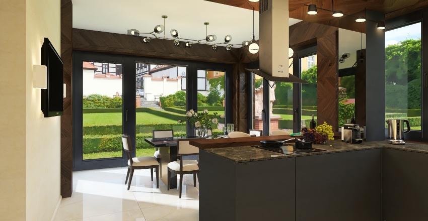 двухэтажный  дом 1 этаж Interior Design Render