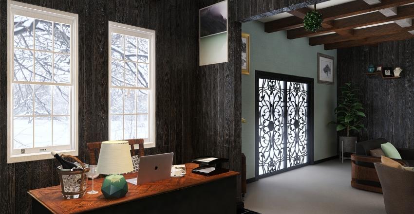 Living Room/ Office Space-OM Interior Design Render