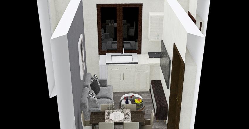 Copy of living room grey Interior Design Render