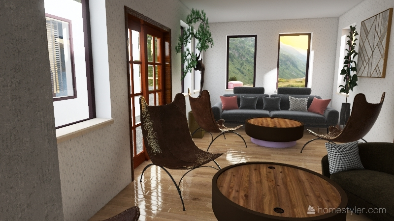 Colorful House Interior Design Render