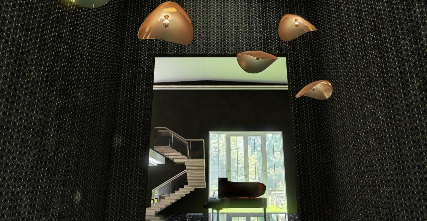 moder house, two story Interior Design Render