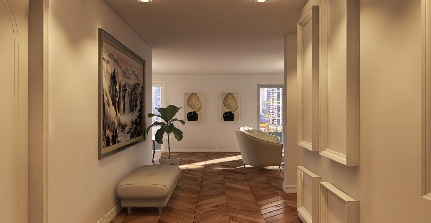 CASA DF_CLASSICO CONTEMPORANEO Interior Design Render