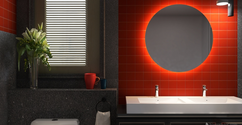 redbathroom Interior Design Render