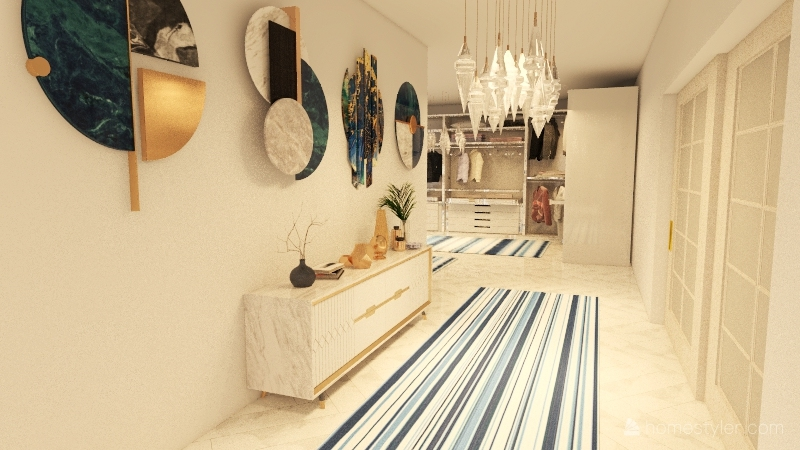Casa Grega Interior Design Render