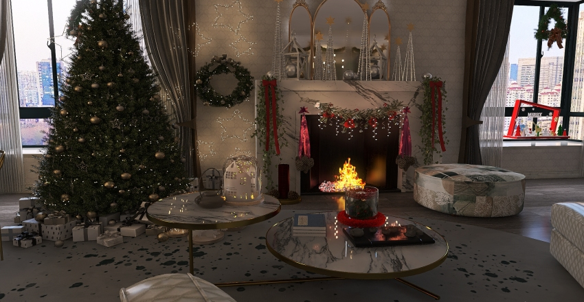 A little Christmas cheer Interior Design Render