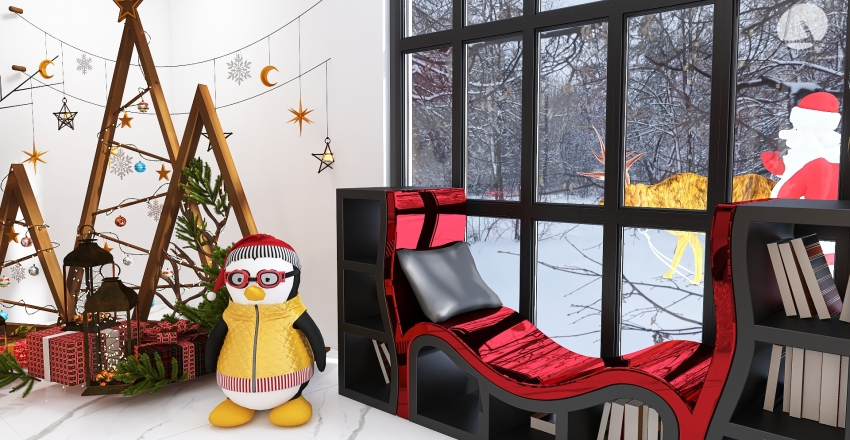 Peppermint Pop Christmas Interior Design Render