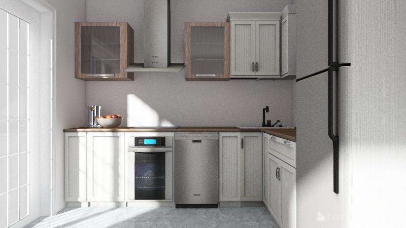 китцен Interior Design Render