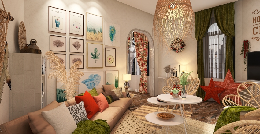 X-mas deco apartment building from the turn of the century Interior Design Render