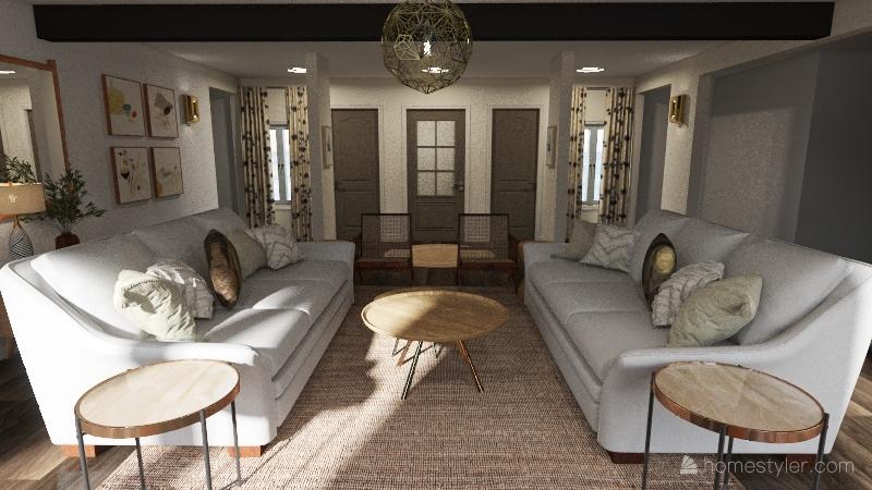 Shore Living Room Interior Design Render