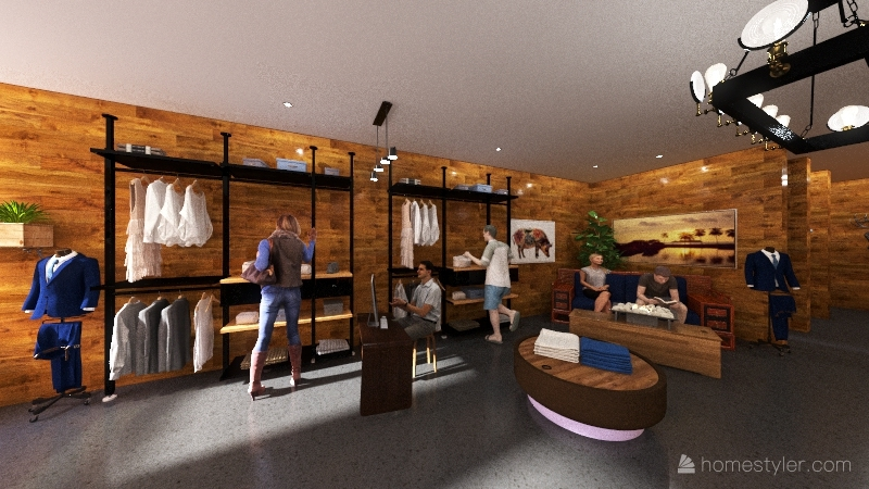 Duck Tee Storefront Interior Design Render
