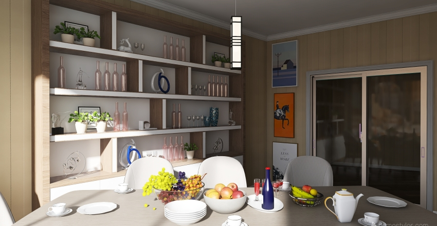 small aparment Interior Design Render