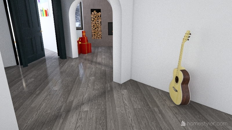 The Christmas eve house Interior Design Render