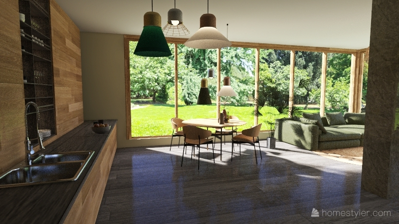 Eco House Ukr Interior Design Render