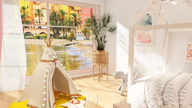 Cute Girl's Room :3 Interior Design Render