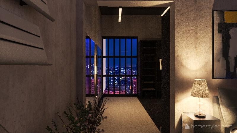 neutral black tone Interior Design Render