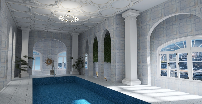 pool Interior Design Render
