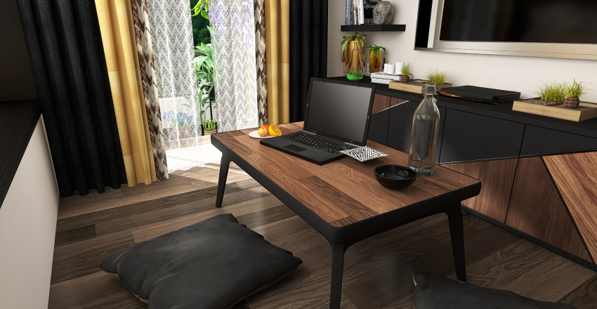 Student apartment Interior Design Render