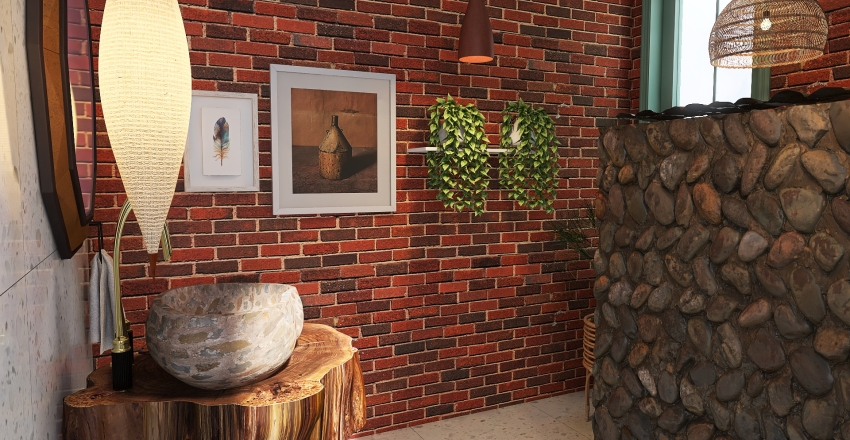 Chalé Interior Design Render