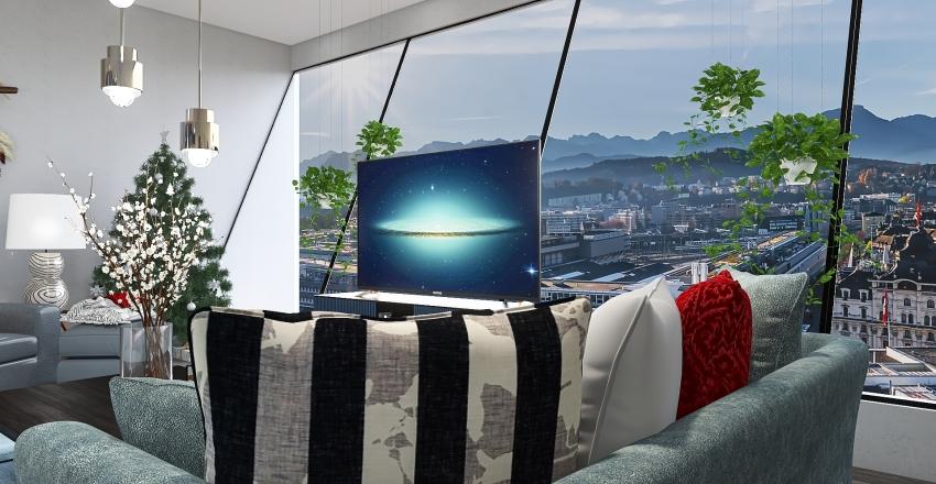 x-mas home Interior Design Render