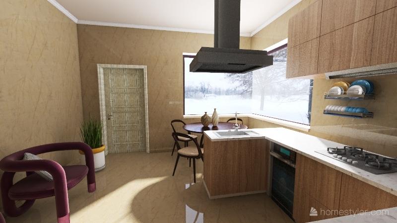 casa de inverno... Interior Design Render