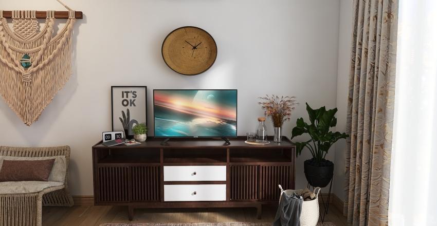 #HSDA2020Chic Boho Bedroom Interior Design Render