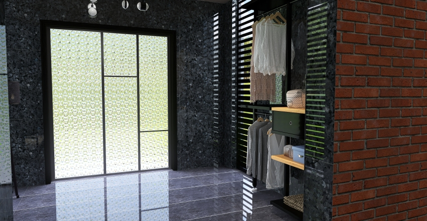 Industrial-modern house Interior Design Render