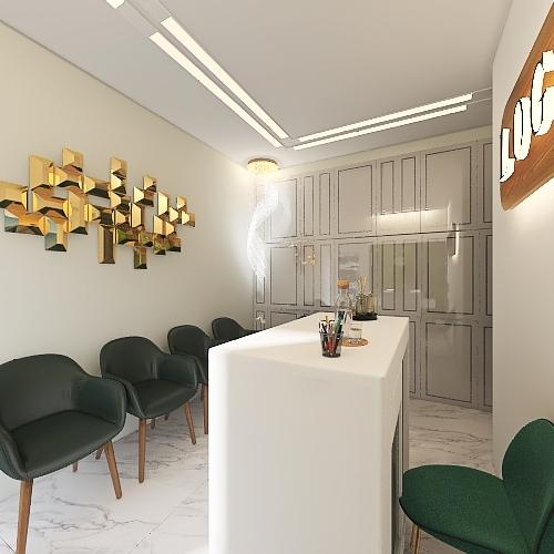 Novo 2 salas - com parede Interior Design Render