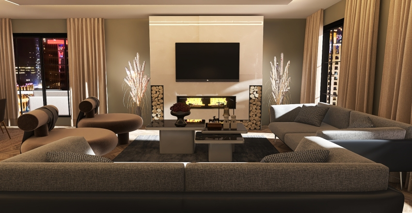 NYC dream apartment Interior Design Render