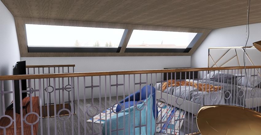 Simple Modern Double House Interior Design Render