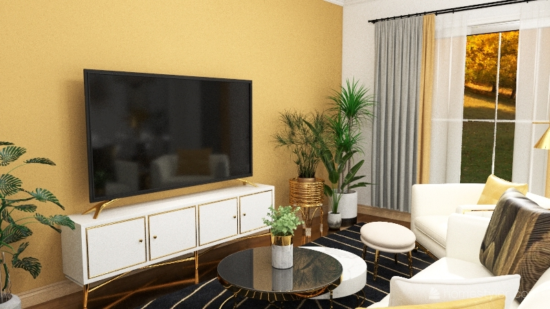 Chic Two Story Home Interior Design Render