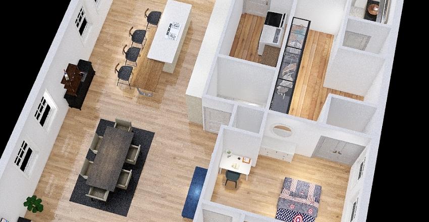 Kitchen on orig wall Laund by Master Interior Design Render