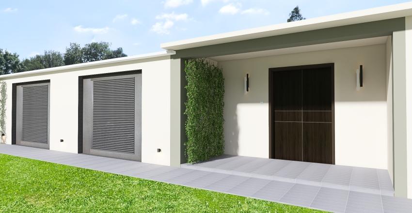Villa, Agios Georgios Interior Design Render