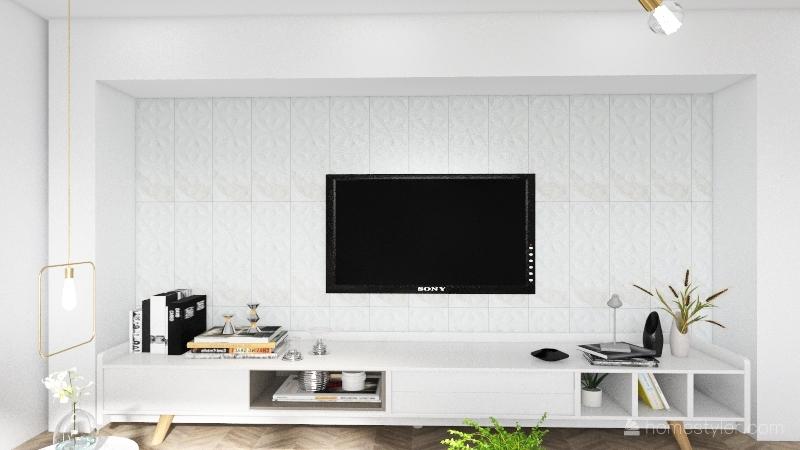 Sala moderna Interior Design Render
