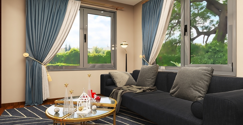 two storey luxury house Interior Design Render