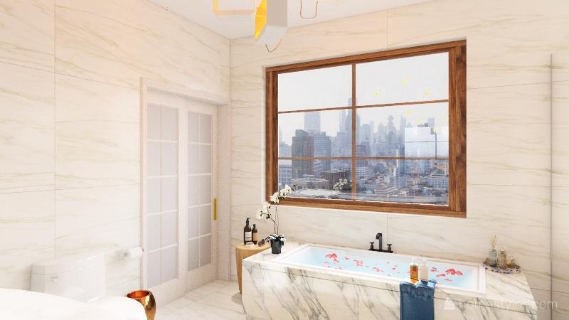 Banheiro clean Interior Design Render