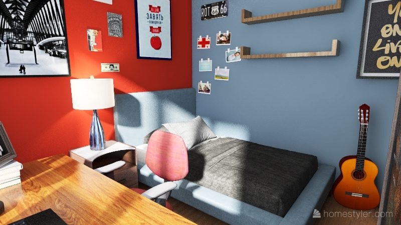 The Lan House Interior Design Render