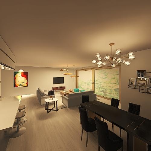 Copy of Modern GF extension Interior Design Render