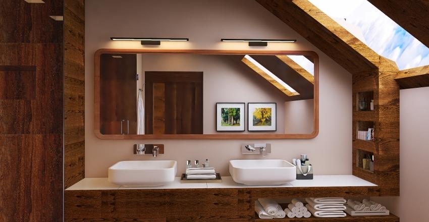 Chalet for Christmas Interior Design Render