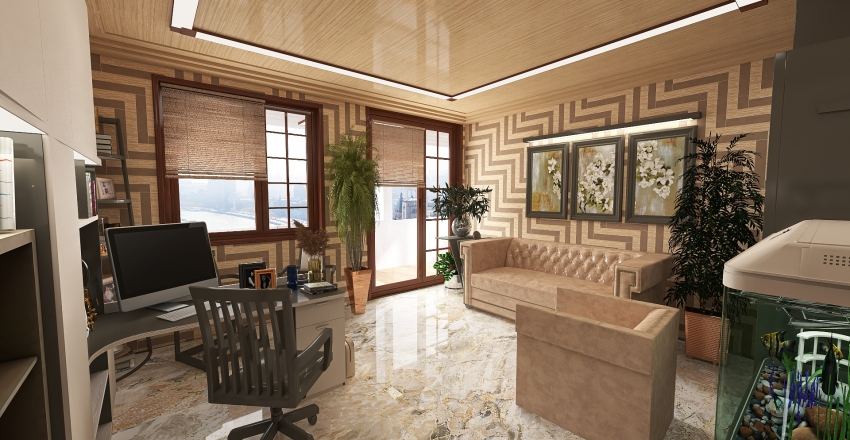 appartamento duplex Interior Design Render